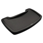 "Rubbermaid Sturdy Chair Microban Youth Seat Tray, Plastic, Dark Green, 11 1/2""x18 1/2""x3 1/4"""