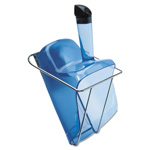 Rubbermaid Hand-Guard Scoop with Holder, 74oz, Transparent Blue