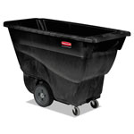 Rubbermaid Structural Foam Tilt Truck, Rectangular, 450 lb. Cap., Black