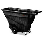 Rubbermaid Structural Foam Tilt Truck, Rectangular, 850 lb. Cap., Black