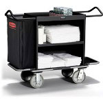 Rubbermaid Black High Capacity Housekeeping Cart