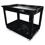 Rubbermaid Black Heavy-Duty 2 Shelf Utility Cart
