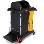 Rubbermaid Healthcare Microfiber Janitor Cleaning Cart