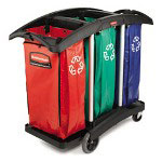 Rubbermaid Green Recycling Station, 34 Gallon