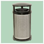 Rubbermaid Infinity 32 Gl Round Panel Kit Perforated Silver