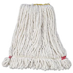 Rubbermaid Web Foot Wet Mop Heads, Shrinkless, White, Small, Cotton/Synthetic