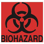 Rubbermaid Biohazard Decal