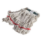 Rubbermaid Swinger Loop Wet Mop Heads, Cotton/Synthetic, White, Small, 6/Carton
