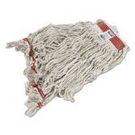 Rubbermaid Swinger Loop Wet Mop Heads, Cotton/Synthetic, White, Large, 6/Carton