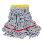 Rubbermaid Swinger Loop Wet Mop Heads, Cotton/Synthetic, Blue, Small