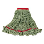 Rubbermaid Swinger Loop Wet Mop Heads, Large, Green, Cotton/Synthetic Blend