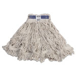 Rubbermaid Super Stitch Blend Mop Heads, Cotton/Synthetic, White, X-Large, 6/Carton