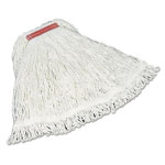 Rubbermaid Super Stitch Rayon Mop Heads, Cotton/Synthetic, White, Large
