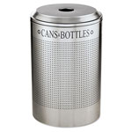Rubbermaid Silhouette™ Silver Recycling Bin, 26 Gallon