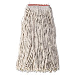 Rubbermaid Cut-End Blend Mop Heads, Cotton/Synthetic, White, 24 oz, 1-in. Headband