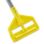 Rubbermaid Invader Fiberglass Side-Gate Wet-Mop Handle, 1 dia x 60, Gray/Yellow
