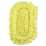 Rubbermaid Trapper Looped-End Dust Mop Head, 12 x 5, Yellow, 12/Carton