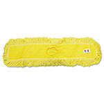 "Rubbermaid Trapper Commercial Dust Mop, Looped-end Launderable, 5"" x 36"", Yellow"