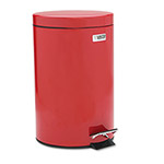 Rubbermaid Red Steel Step-On Fire-Safe Trash Can, 3.5 Gallon, Round