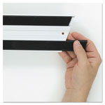 Rubbermaid Hook & Loop Replacement Strips, 1 1/10w x 18l, Black