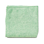 Rubbermaid Microfiber Cleaning Cloth, Green, Case of 24