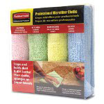 Rubbermaid Microfiber Cleaning Cloth, Pack of 4