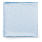 Rubbermaid Microfiber Cleaning Cloth, Blue, Case of 12