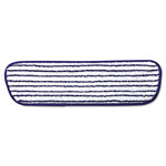 "Rubbermaid Microfiber Finish Pad, 18"", Blue/White"