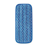 Rubbermaid Microfiber Wall/Stair Wet Mopping Pad, Blue, 13 3/4w x 5 1/2d x 1/2h, 6/Carton
