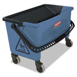 Rubbermaid 27 Gallon Microfiber Finish Bucket w/Lid, Blue