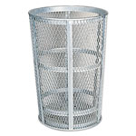 "Rubbermaid Street Basket Waste Receptacle, 23"" Diameter, 45 gal, Silver"