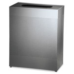 Rubbermaid Rectangle Metal Indoor Trash Can, 40 GAL, Silver