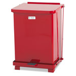Rubbermaid Defenders Biohazard Square Steel Step Can, 7 Gallon, Red