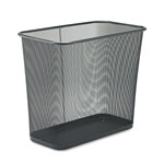 Rubbermaid Rectangle Steel Desk Wastebasket, 7 1/2 Gallon, Black