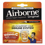 Airborne® Immune Support Effervescent Tablet, Zesty Orange, 10/Box, 72 Box/Carton