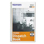 Rediform Dispatch Log Book, 7 1/2 x 2, Two-Part Carbonless, 252 Sets/Book