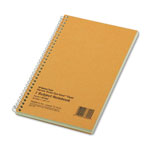 Rediform Wirebound 1 Subject Green Tint Notebook with Narrow Rule, 7 3/4 x 5, 80 Sheets