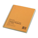 National Brand Subject Wirebound Notebook, Narrow Rule, 8 1/4 x 6 7/8, Green, 80 Sheets