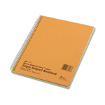 Rediform Wirebound 1 Subject Green Tint Notebook, Narrow/Margin Rule, 10x8, 80 Sheets