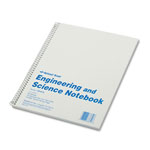 Rediform Wirebound Engineering & Science Notebook, 11x8 1/2, 60 Quad/College Ruled Sheets