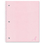 National Brand Pink Ribbon Notebook, College/Margin Rule, 11 x 8-7/8, White Paper, 80 Sheets