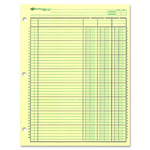 Rediform 3 Hole, Side Punched Analysis Pad, 3 Columns, 11 x 8 1/2, 50 Sheets/Pad