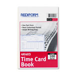 Rediform Employee Time Card, Weekly, 4-1/4 x 6, 100/Pad
