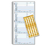 Rediform Wirebound Message Book, 2 3/4 x 5 3/4, Carbonless Copy, 400 Forms, 120 Labels