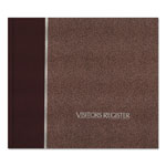 Rediform Hardcover Visitor Register Book, 128 pages, Burgundy Cover, 8 1/2 x 9 7/8