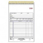 "Rediform Sales Order Book, 2 Color, 2 Part Carbonless, 5 1/2"" x 8 1/2"""