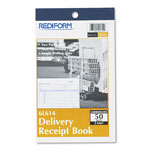 Rediform Delivery Receipt Book, 6 3/8 x 4 1/4, Two-Part Carbonless, 50 Sets/Book