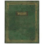 Rediform Heritage Journal, 7 1/4 x 9 1/4, College Ruled, Green Hard Cover, 192 Sheets