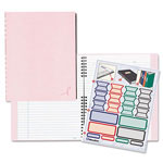 Rediform Pink Ribbon NotePro Notebook, Hardcover, Wirebound, 150 Pages, 9-1/4 x 7-1/4