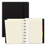 Rediform Notebook, College Rule, Black Cover, 8 1/4 x 5 13/16, 112 Sheets/Pad